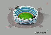 isometric soccer stadium vector