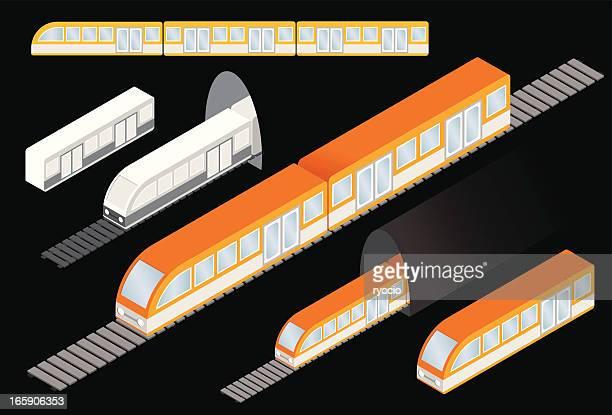 Isometric subway trains
