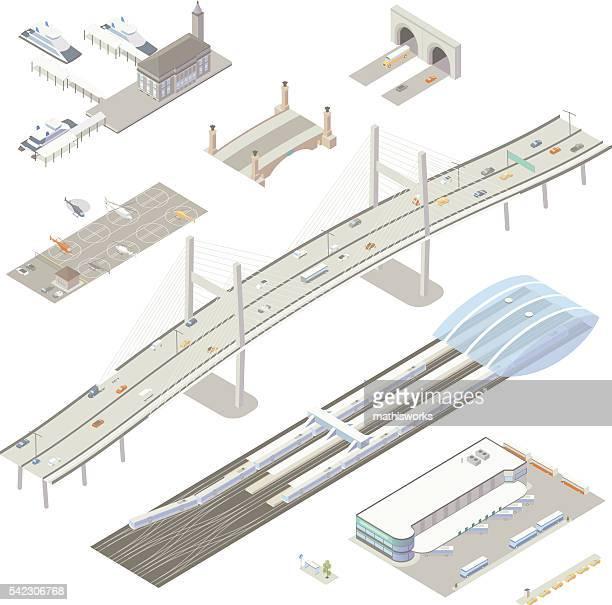 Isométricos de las estructuras de transporte