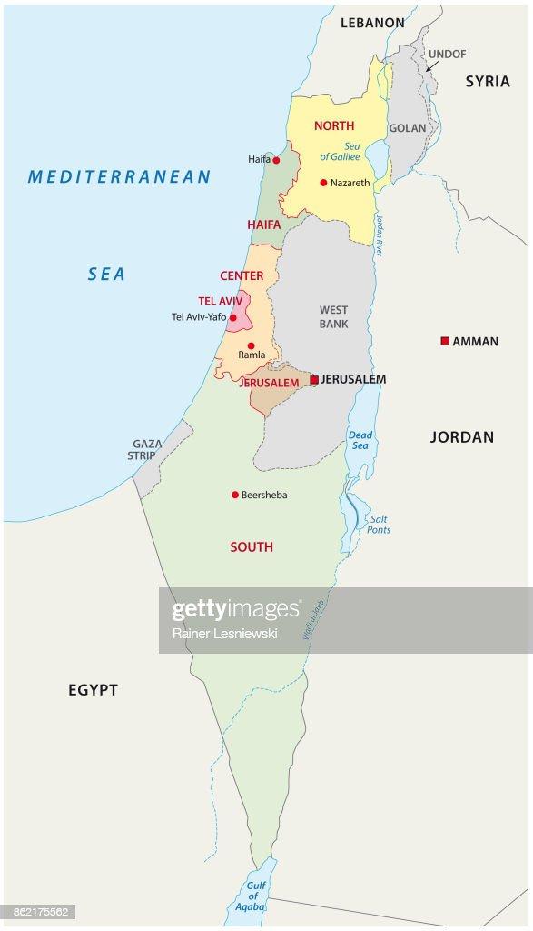 Israel Administrative Map Vector Art Thinkstock