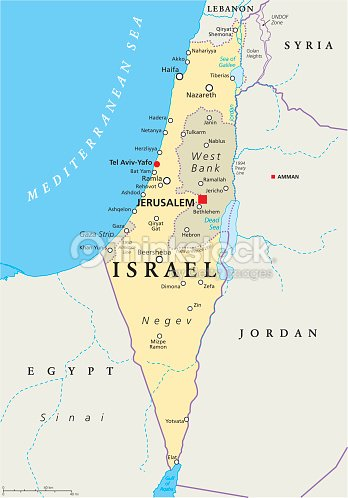 Israel Political Map Vector Art Thinkstock - Mapa de israel
