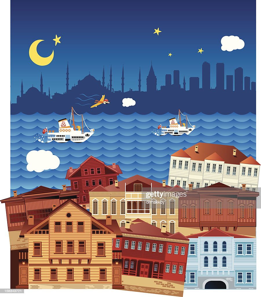 Istanbul Panorama : Vector Art