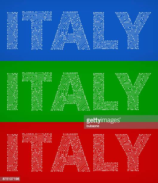Italy Circuit Board Color Vector Backgrounds