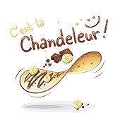 It's Candlemas in French : C'est la Chandeleur