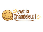 C'est la Chandeleur means This is the Candlemas Day, the day of crêpes (a thin pancakes)