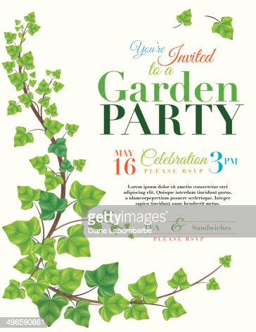 Mesmerizing Ivy Garden Party Invitation Template Vector Art  Getty Images With Likable Ivy Garden Party Invitation Template  Vector Art With Delectable Snog Covent Garden Also Astro Turf For Gardens In Addition Buy Busch Gardens Tickets And Where Is Letchworth Garden City As Well As Cheals Garden Centre Additionally Garden Chemical Sprayer From Gettyimagescom With   Likable Ivy Garden Party Invitation Template Vector Art  Getty Images With Delectable Ivy Garden Party Invitation Template  Vector Art And Mesmerizing Snog Covent Garden Also Astro Turf For Gardens In Addition Buy Busch Gardens Tickets From Gettyimagescom