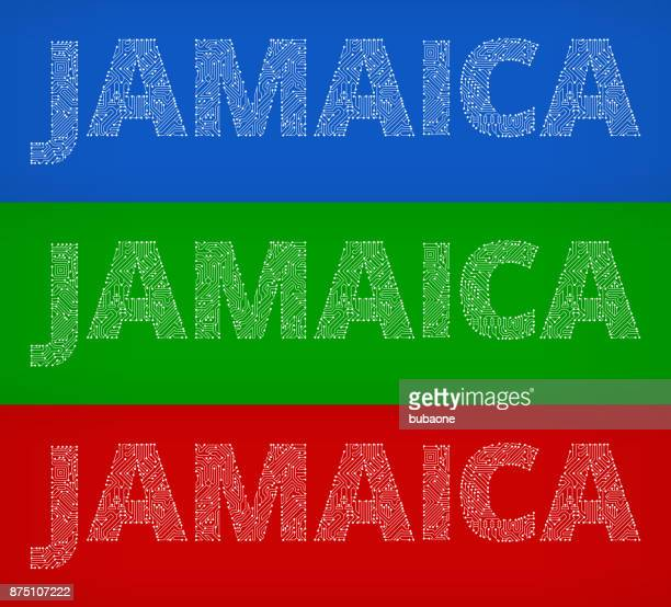 Jamaica Circuit Board Color Vector Backgrounds