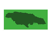 vector illustration of Jamaica map