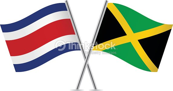 Jamaican And Costa Rican Flags Vector
