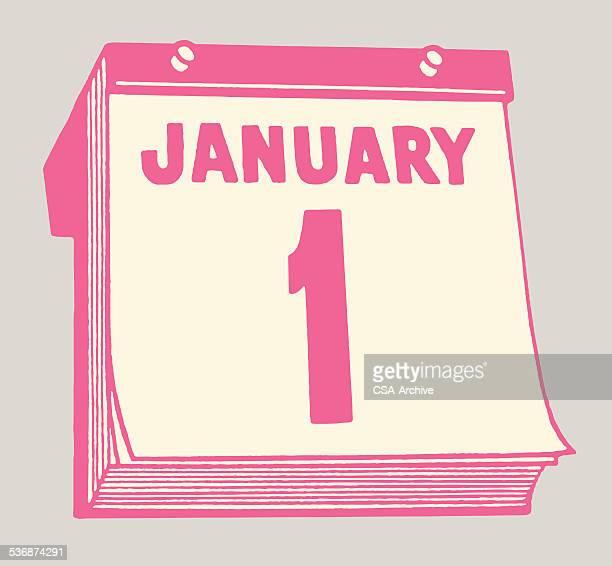 January 1st Calendar