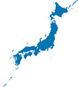 Japan complete map (blue)