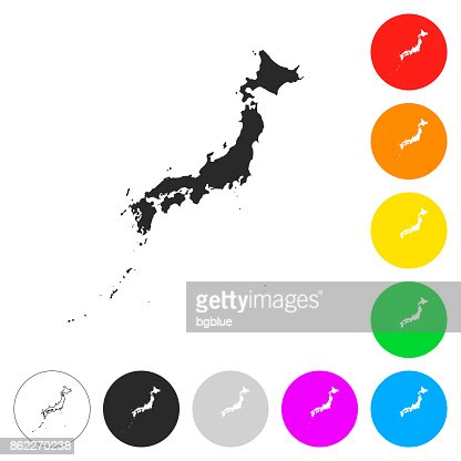 Japan Silhouette White Vector Art Getty Images - Japan map silhouette