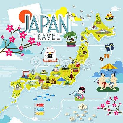 Japan Travel Map Vector Art Thinkstock - Japan map vector art