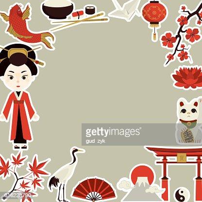 Japanische Kultur : Vektorgrafik