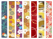 I put together the design of the Japanese pattern of the vertical type strip and put it together