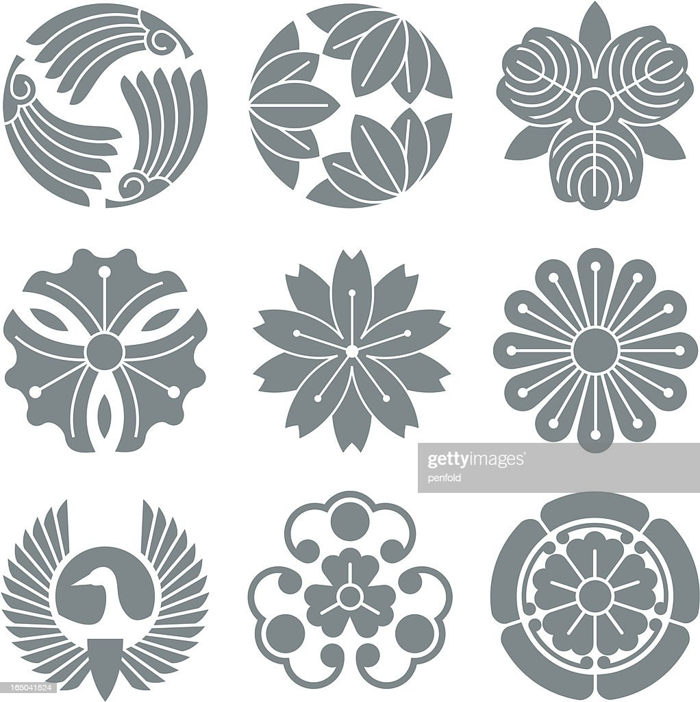 japanese symbols vector art getty images