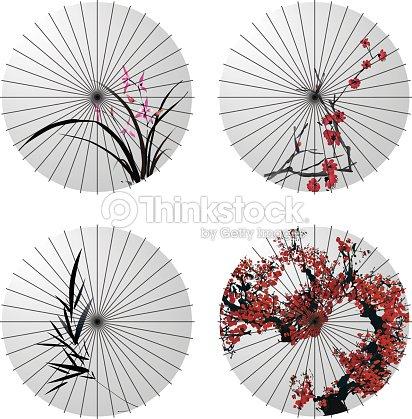 umbrella designs japanese umbrella vector art thinkstock