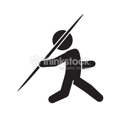 Javelin Throw Sports Icon Vector arte vetorial - Thinkstock
