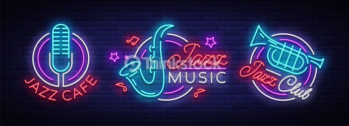 Jazz Music Collection Neon Signs Symbols Collection Of S In Neon