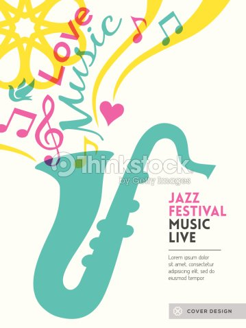 jazz music festival graphic design poster background template layout