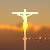 illustration of Jesus Christ crucifixion on Good Friday