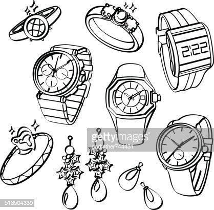 Armbanduhr skizze  Schmuck Und Uhren Vektorgrafik | Thinkstock