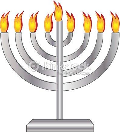 Jewish holiday. Hanukkah menorah with candles