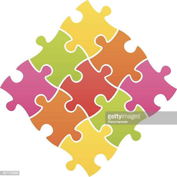 jigsaw puzzle multi colored