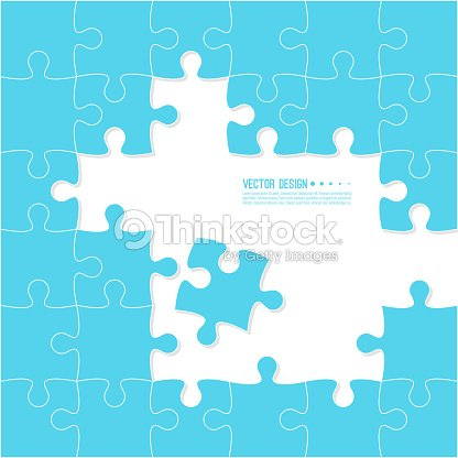 Jigsaw Puzzle Pieces Vector Art