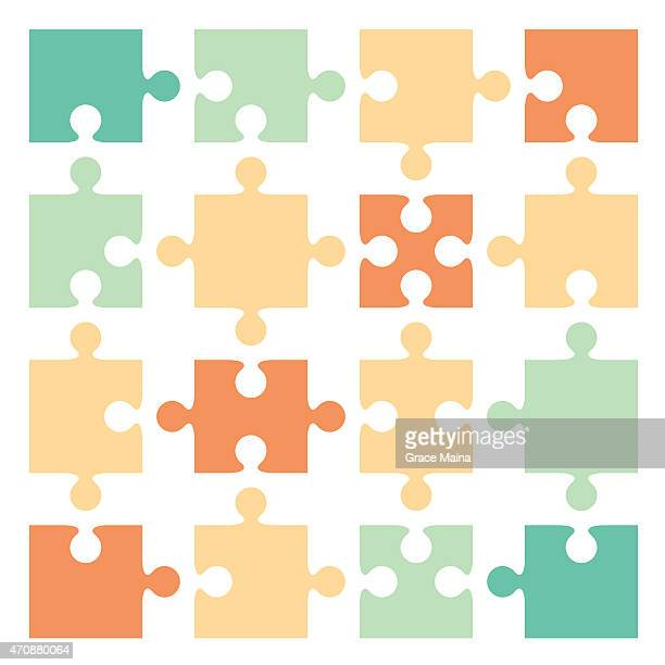 Jigsaw puzzle pieces - VECTOR
