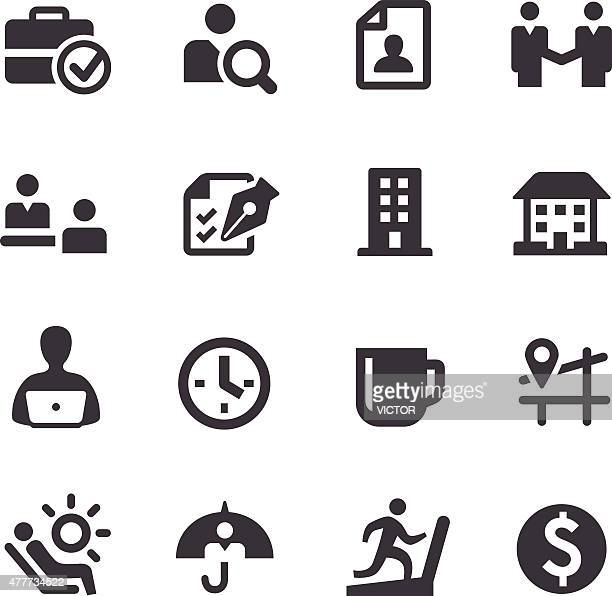 Job and Benefits Icons - Acme Series