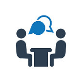 Simple Illustration Of A  Job interview icon