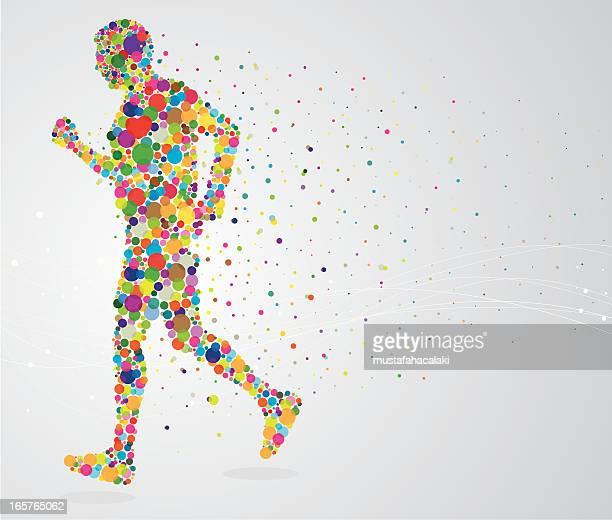Jogging pixel man