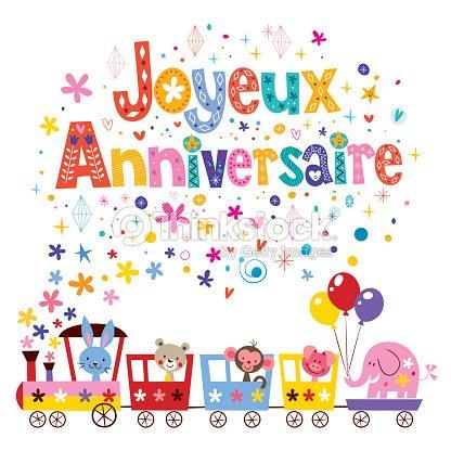 Joyeux Anniversaire Buon Compleanno In Francese Cartoline Di