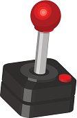 Illustration of a classic gamer's joystick