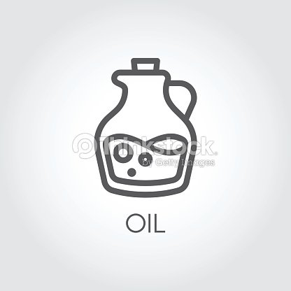 Jug With Oil Icon Food Symbol In Thin Line Style Culinary Concept