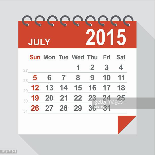 July 2015 calendar - Illustration