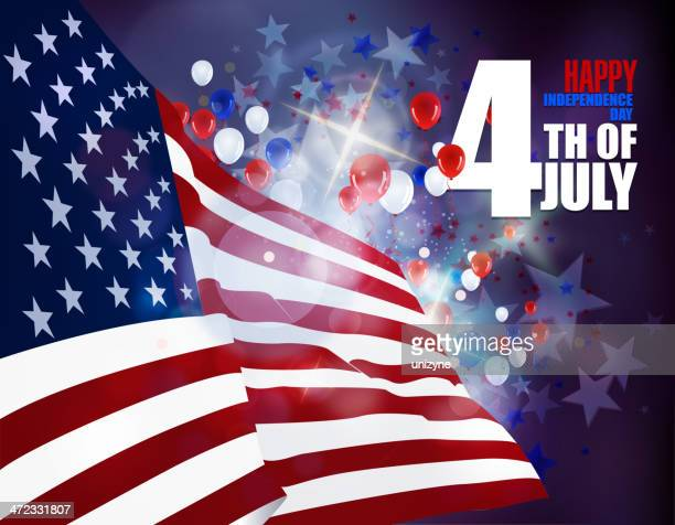 July 4th Patriotic Celebrations Background
