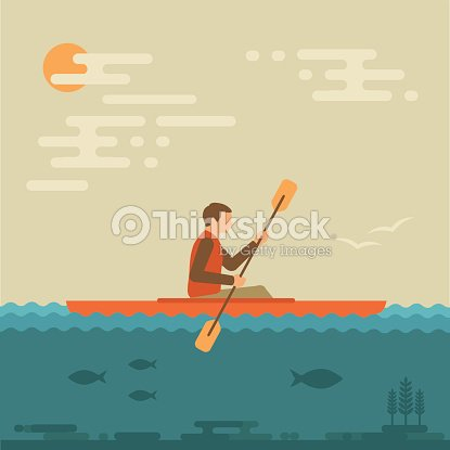 Kayaking water sport,