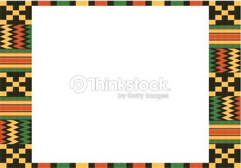 Kente Cloth Frame C Vector Art | Thinkstock