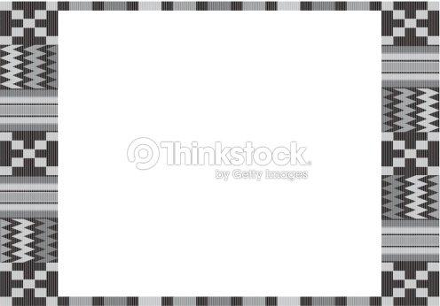 Kente Cloth Frame Vector Art | Thinkstock
