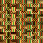 Colorful kente style fabric design for Kwanzaa