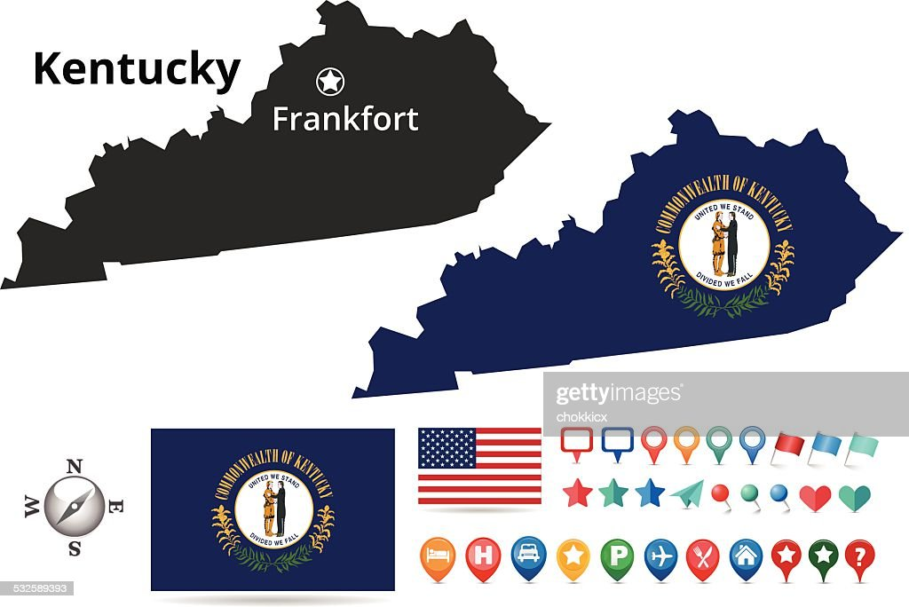 Kentucky Map Kit Vector Art  Getty Images