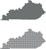 vector map of Kentucky