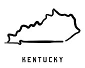 Kentucky simple symbol. State map outline - smooth simplified US state shape map vector.