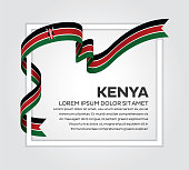 Kenya, country, flag, vector, icon