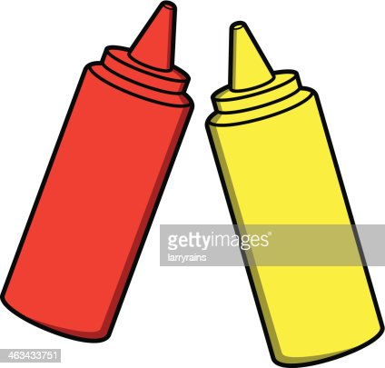 Ketchup And Mustard Vector Art | Getty Images