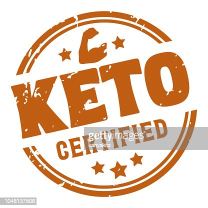 Ketogenic Diet Certified Rubber Stamp, Vector : stock vector