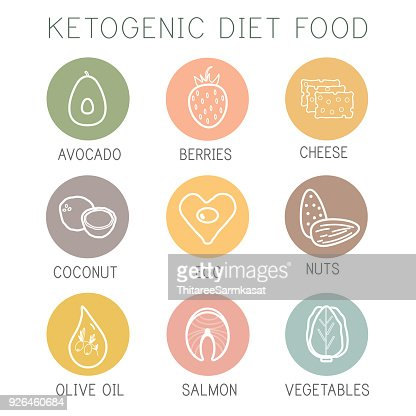 Ketogenic diet food, high healthy fats : stock vector