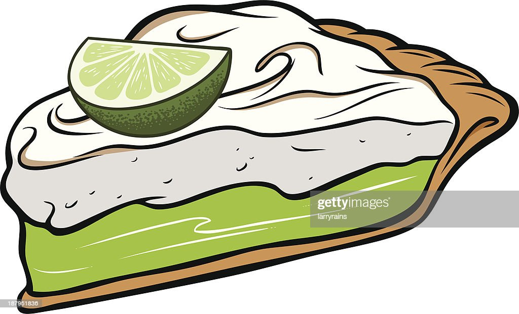 Key Lime Pie : Vector Art